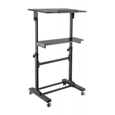 Mobile Presentation Desk Cart with height adjustable and tilting shelf   - Techly - ICA-TB TPM-4-1