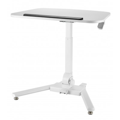 Foldable Height Adjustable Desk White  - Techly - ICA-TB TPM-7-1