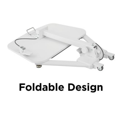 Foldable Height Adjustable Desk White  - Techly - ICA-TB TPM-7-3