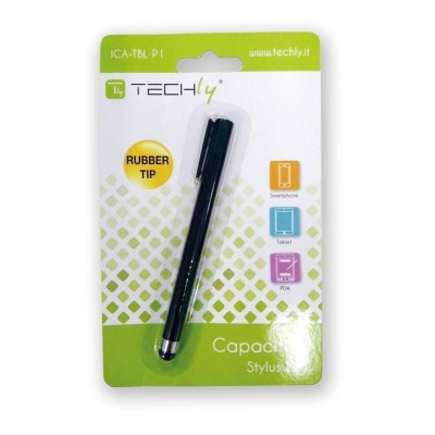 Capacitive Stylus Pen with Clip for Smartphone and Tablet 8 mm - Techly - ICA-TBL P1-1
