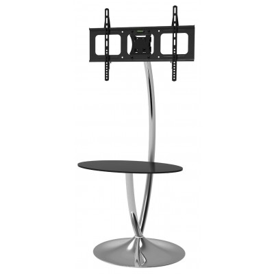 "Floor Support with Round Base and Shelf for LCD/LED TV 32-70"" - Techly - ICA-TR13-2"