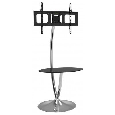 "Floor Support with Round Base and Shelf for LCD/LED TV 32-70"" - Techly - ICA-TR13-0"