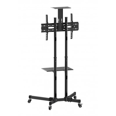 """Floor Trolley with Shelf LCD/LED/Plasma 37-70""""  - Techly - ICA-TR16T-2"""
