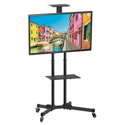 """Floor Trolley with Shelf LCD/LED/Plasma 37-70""""  - Techly - ICA-TR16T-1"""