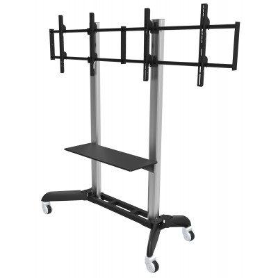 """Floor Stand for 2 LCD TVs/LEDs 32-70"""" - Techly - ICA-TR22-1"""