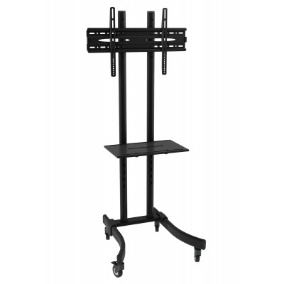 "Mobile TV Stand/Trolley for LED/LCD 32-70"" with shelf  - Techly - ICA-TR23-1"
