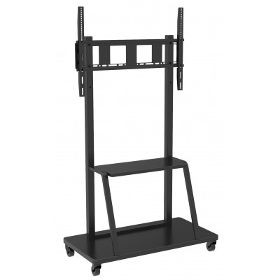 "Floor Stand for LCD/LED/Plasma TV 55-100"" with shelf - Techly - ICA-TR28-1"