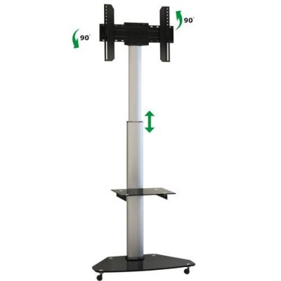 """37""""-70"""" Floor Stand with Shelf LCD / LED / Plasma - Techly - ICA-TR3-1"""