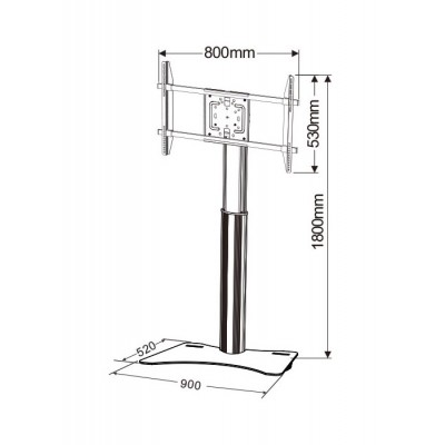 """Floor Stand for TV's from 32"""" up to 70"""" - Techly - ICA-TR39-3"""