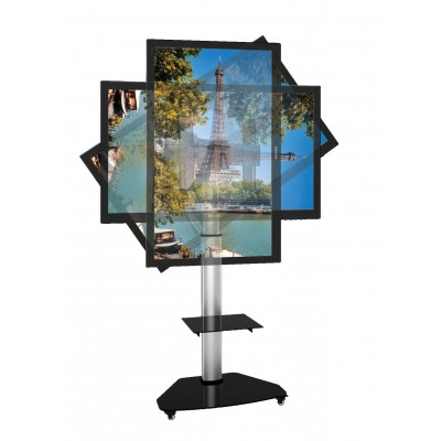 "Floor Stand with Shelf Trolley TV LCD/LED/Plasma 37-70"" Silver - Techly - ICA-TR3SL-3"