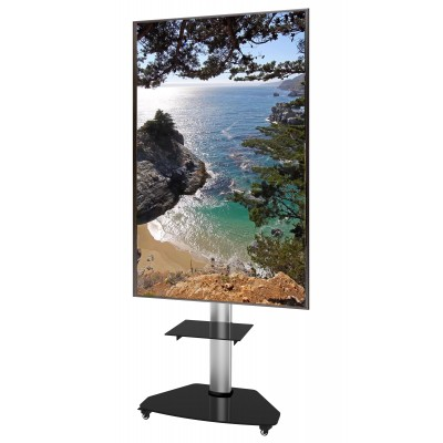 "Floor Stand with Shelf Trolley TV LCD/LED/Plasma 37-70"" Silver - Techly - ICA-TR3SL-2"