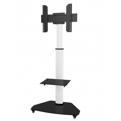 "Floor Support with Shelf Trolley TV LCD/LED/Plasma 37-70"" White - Techly - ICA-TR3WH-1"