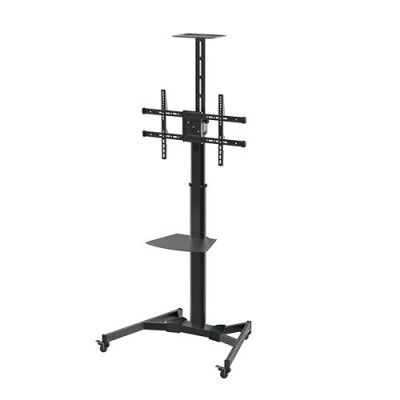 """Floor Support with TV/LED/LCD Shelf 37-70"""" Black - Techly - ICA-TR46-3"""