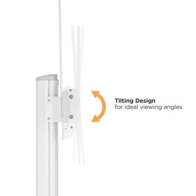 """Floor Stand for TV from 70"""" to 120"""" White - Techly - ICA-TR49W-4"""