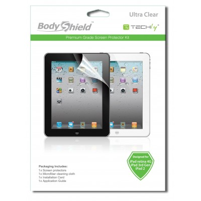 Display Protective Film for iPad2 / 3/4 Ultra Clear - Techly - ICA-DCP 815-1