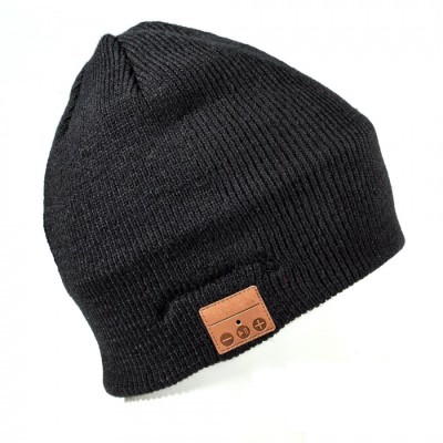 Bluetooth Beanie Cap with Stereo Headset and Microphone - Techly Np - ICC SB-HAT-MBK-1