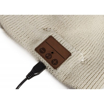 Bluetooth Beanie Cap with Stereo Headset and Microphone - Techly Np - ICC SB-HAT-MBK-6