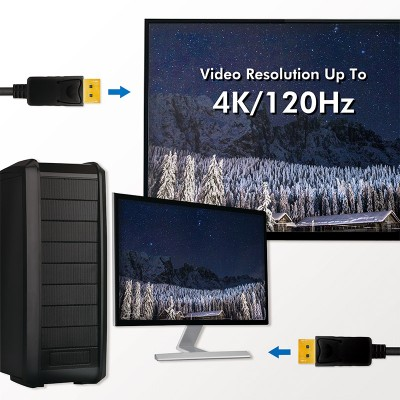 Audio/Video cable DisplayPort 8K M/M 3 m Black - Techly - ICOC DSP-A14-030NT-5