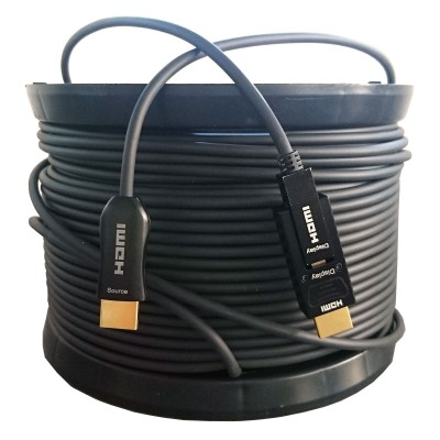 HDMI 2.0 Cable 4K active Fiber optic 100m from HDMI to HDMI + micro - Techly - ICOC HDMI-HY-100-1