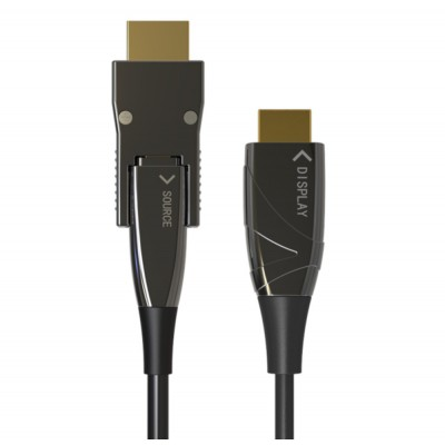 HDMI A/A Micro HDMI AOC Fiber Optic Cable 4K 20m - Techly - ICOC HDMI-HY2D-020-1