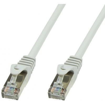 Copper Patch Cable Cat.6 Grey SFTP LSZH 1m - Techly Professional - ICOC LS6-010T-0
