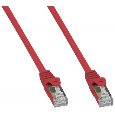 Copper Patch Network Cable Cat. 6A SFTP LSZH 0.5 m Red - Techly Professional - ICOC LS6A-005-RET-1