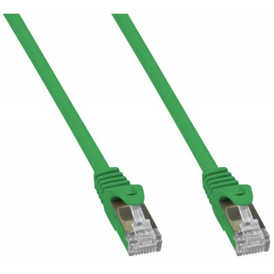 Copper Patch Network Cable Cat. 6A SFTP LSZH 1 m Green - Techly Professional - ICOC LS6A-010-GRT-1
