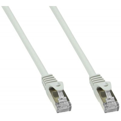 Copper Patch Network Cable Cat. 6A SFTP LSZH 1 m Gray - Techly Professional - ICOC LS6A-010-GYT-1