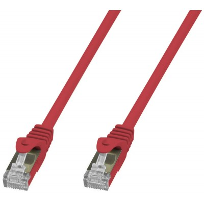 Copper Patch Network Cable Cat. 6A SFTP LSZH 1 m Red - Techly Professional - ICOC LS6A-010-RET-1