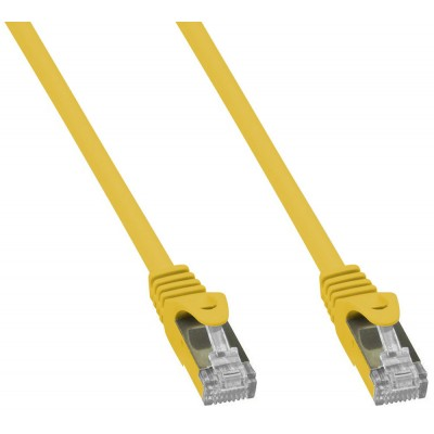 Copper Patch Network Cable Cat. 6A SFTP LSZH 1 m Yellow - Techly Professional - ICOC LS6A-010-YET-1