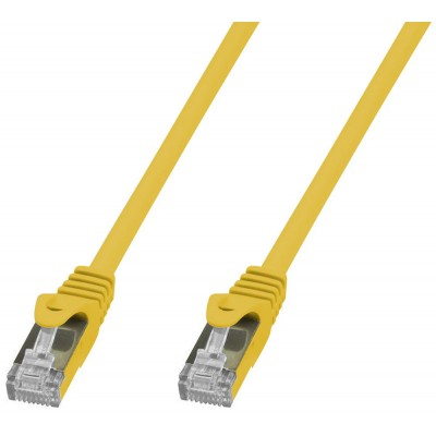 Copper Patch Network Cable Cat. 6A SFTP LSZH 1 m Yellow - Techly Professional - ICOC LS6A-010-YET-0