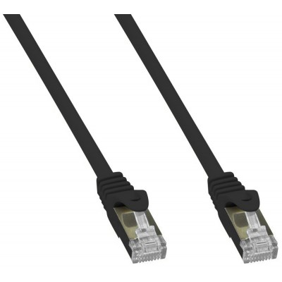 Copper Patch Network Cable Cat. 6A SFTP LSZH 10 m Black - Techly Professional - ICOC LS6A-100-BKT-1
