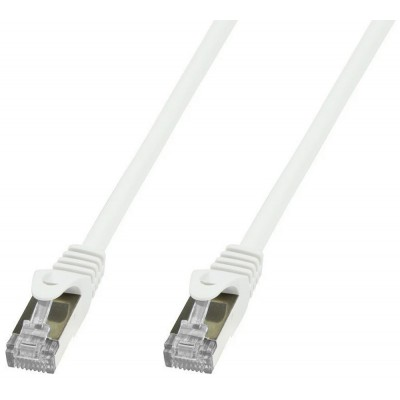 Copper Patch Network Cable Cat. 6A SFTP LSZH 10 m White - Techly Professional - ICOC LS6A-100-WHT-1