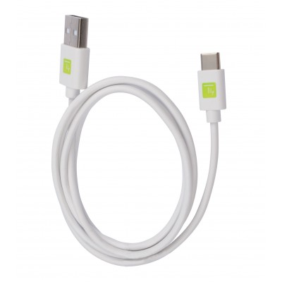 USB Cable Type A Male 2.0/USB-C™ Male 1m White - Techly - ICOC MUSB20-CMAM10TW-0