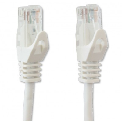 Copper Patch Cable Cat.6 UTP 0.3m White - Techly Professional - ICOC U6-6U-003-WHT-3