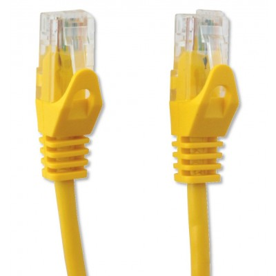Copper Patch Cable Cat.6 UTP 0.3m Yellow - Techly Professional - ICOC U6-6U-003-YET-3