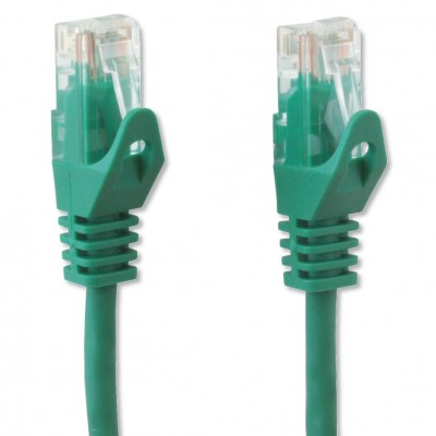 Copper Patch Cable Cat.6 UTP 0.5m Black - Techly Professional - ICOC U6-6U-005-GREET-3