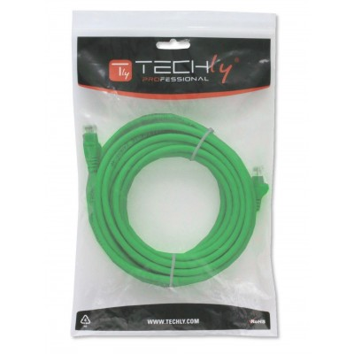 Copper Patch Cable Cat.6 UTP 5m Green - Techly Professional - ICOC U6-6U-050-GREET-1