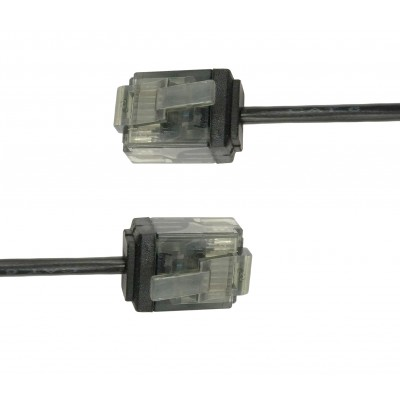 Network Cable Patch Ultra Slim Copper Cat.6 Black UTP 1 m - Techly Professional - ICOC U6-SLIM-010BKT-3
