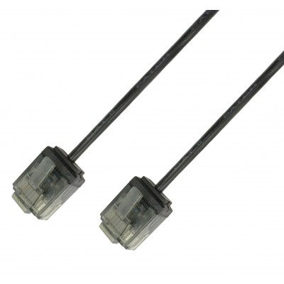 Network Cable Patch Ultra Slim Copper Cat.6 Black UTP 1 m - Techly Professional - ICOC U6-SLIM-010BKT-1