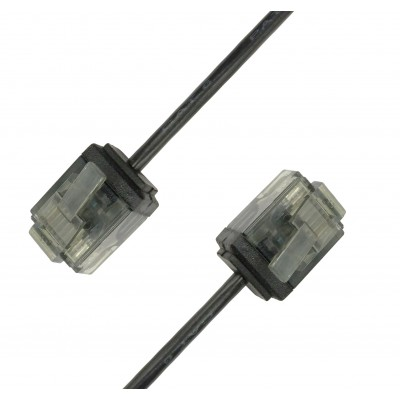 Network Cable Patch Ultra Slim Copper Cat.6 Black UTP 10 m - Techly Professional - ICOC U6-SLIM-100BKT-2