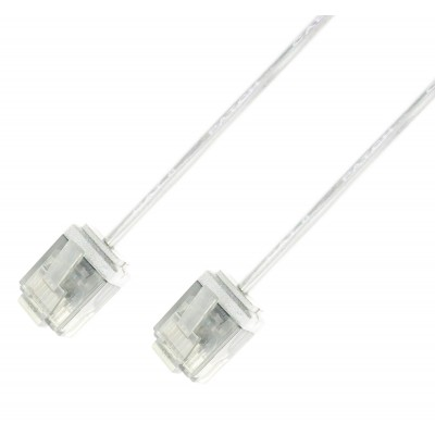 Network Cable Patch Ultra Slim Copper Cat.6 White UTP 10 m - Techly Professional - ICOC U6-SLIM-100T-1