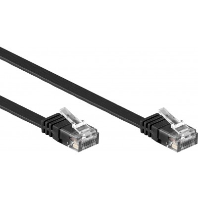 Copper Patch Cable Cat.6 UTP 5m Black - Techly Professional - ICOC U6EB-FL-050BKT-1