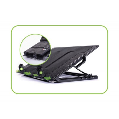 "Notebook stand and cooling pad for Notebook up to 17.3"" - Techly - ICOOL-CP12TY-1"