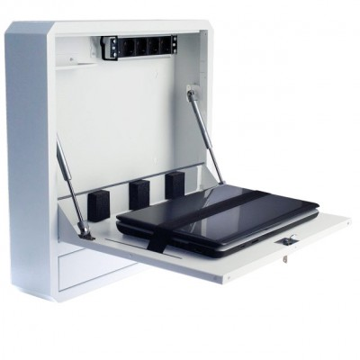 Security Box for Notebooks and Lim's accessories White RAL9016 - Techly Professional - ICRLIM01W2-1