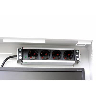 Security box for DVR and video surveillance systems White RAL9016 - Techly Professional - ICRLIM08W2-12
