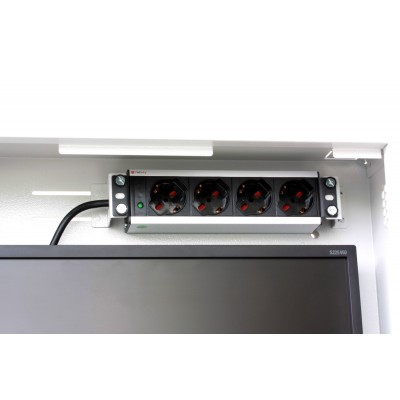 Security box for DVR and video surveillance systems White RAL9016 - Techly Professional - ICRLIM08W2-10