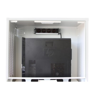 PC Security Cabinet, LCD Monitor and Keyboard Gray Reconditioned  - Techly Professional - ICRLIM10R-3