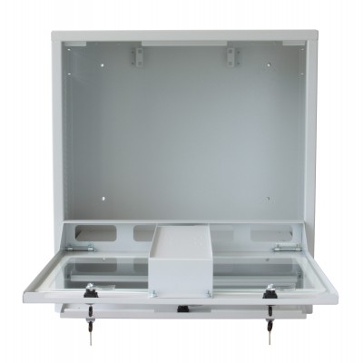 PC Security Cabinet, LCD Monitor and Keyboard Gray Reconditioned  - Techly Professional - ICRLIM10R-7