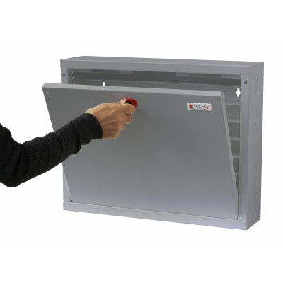 Wall Security Cabinet for Smartphone Gray - Techly Professional - ICRLIM15-5